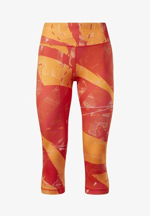 WORKOUT READY PRINTED LEGGINGS - Leggings - red