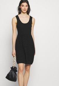 M Missoni - SLEEVES DRESS - Jumper dress - black - 5