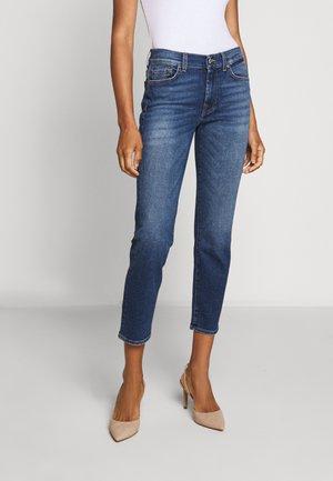 ROXANNE ANKLE - Straight leg jeans - mid blue