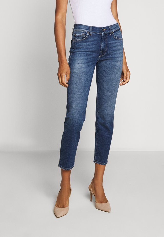 ROXANNE ANKLE - Jeans Straight Leg - mid blue