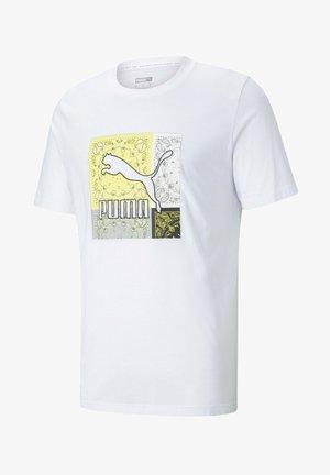 Print T-shirt - white celandine