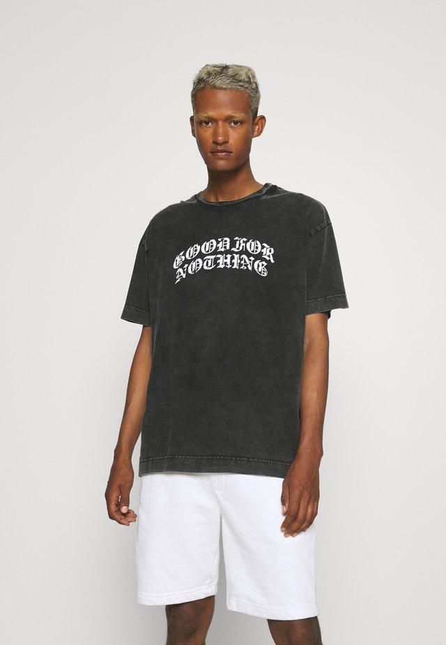 OVERSIZED GOTHIC UNISEX - Print T-shirt - grey