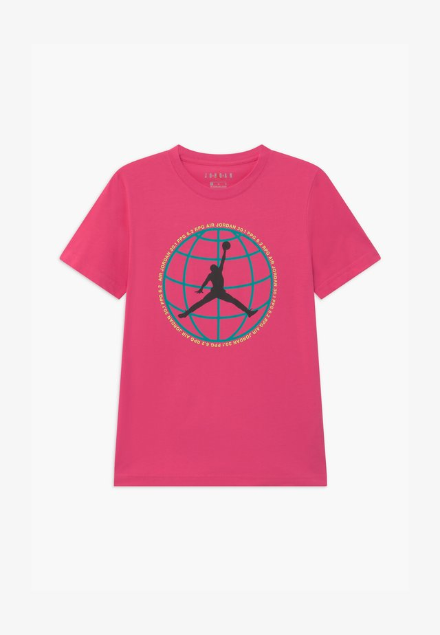MOUNTAIN SIDE GLOBE UNISEX - Print T-shirt - watermelon
