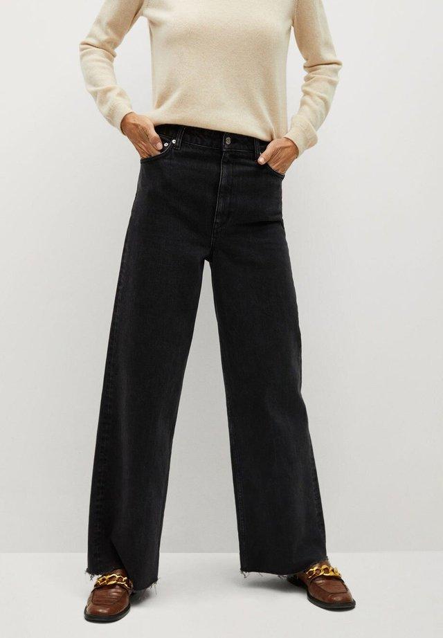 CASILDA - Jeans a zampa - black denim