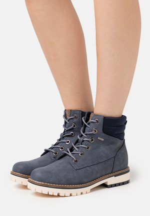 IBIZA TEX BOOTIE - Lace-up ankle boots - navy