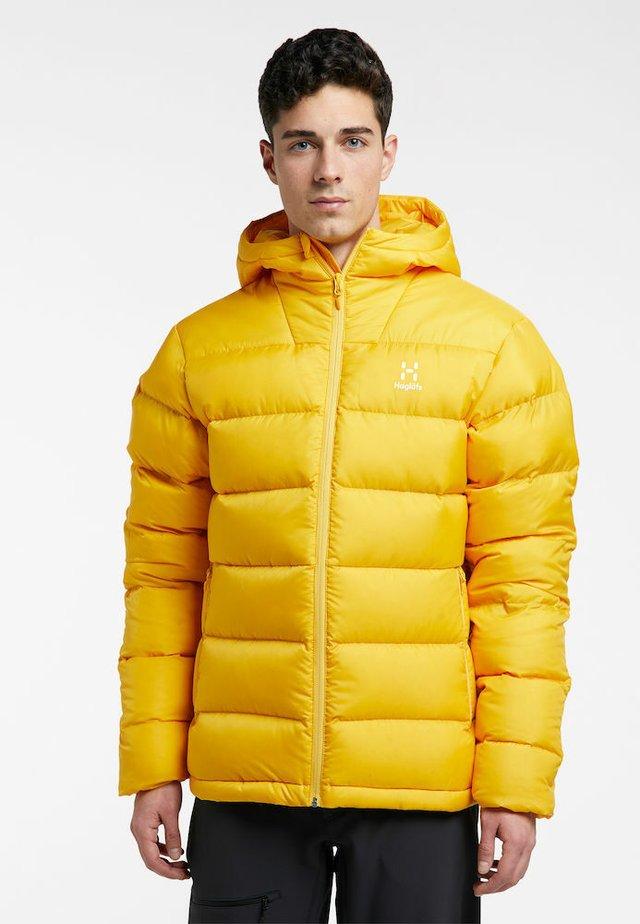 BIELD DOWN HOOD  - Down jacket - pumpkin yellow