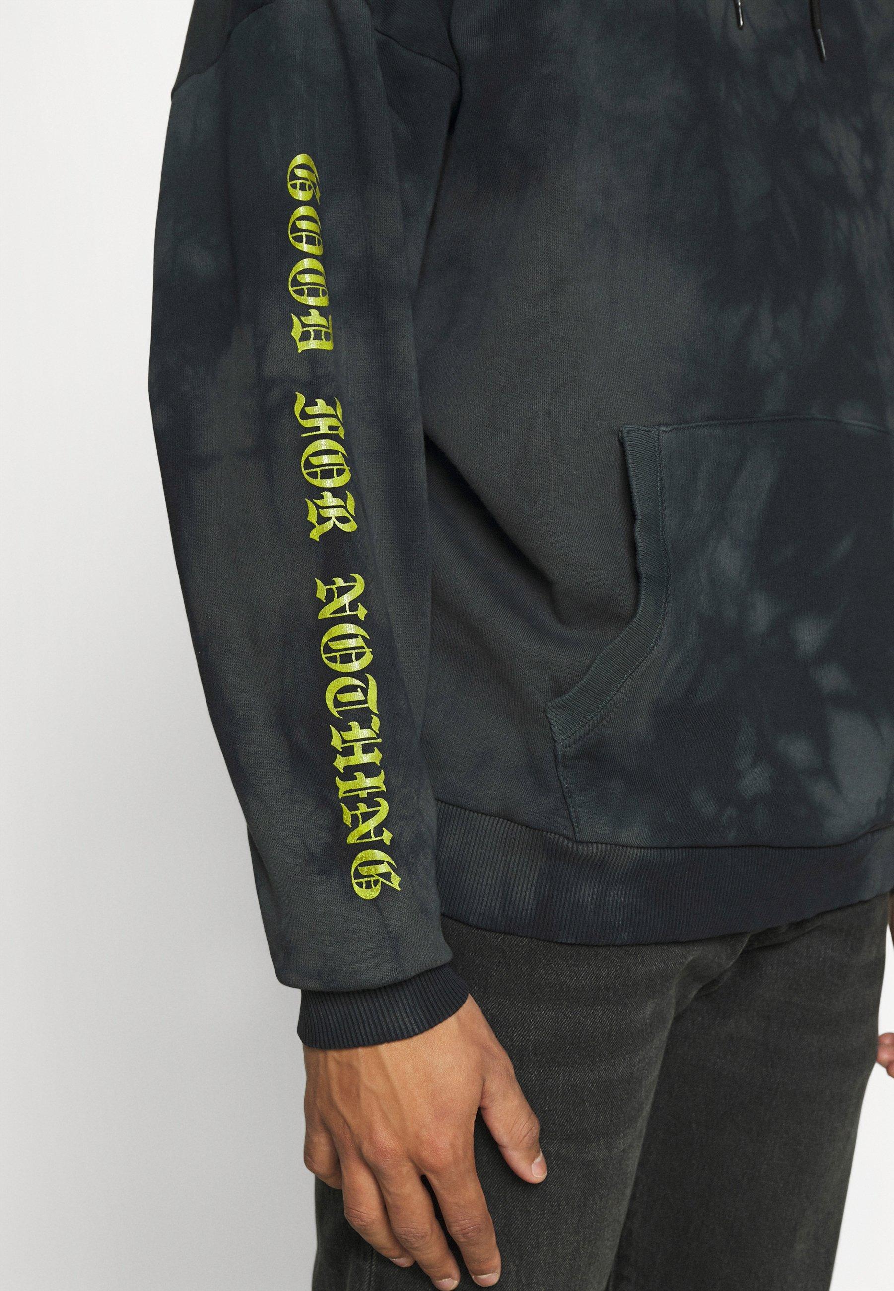 Women OVERSIZED MULTI TIE DYE HOOD WITH GOTHIC BRANDING - Sweatshirt