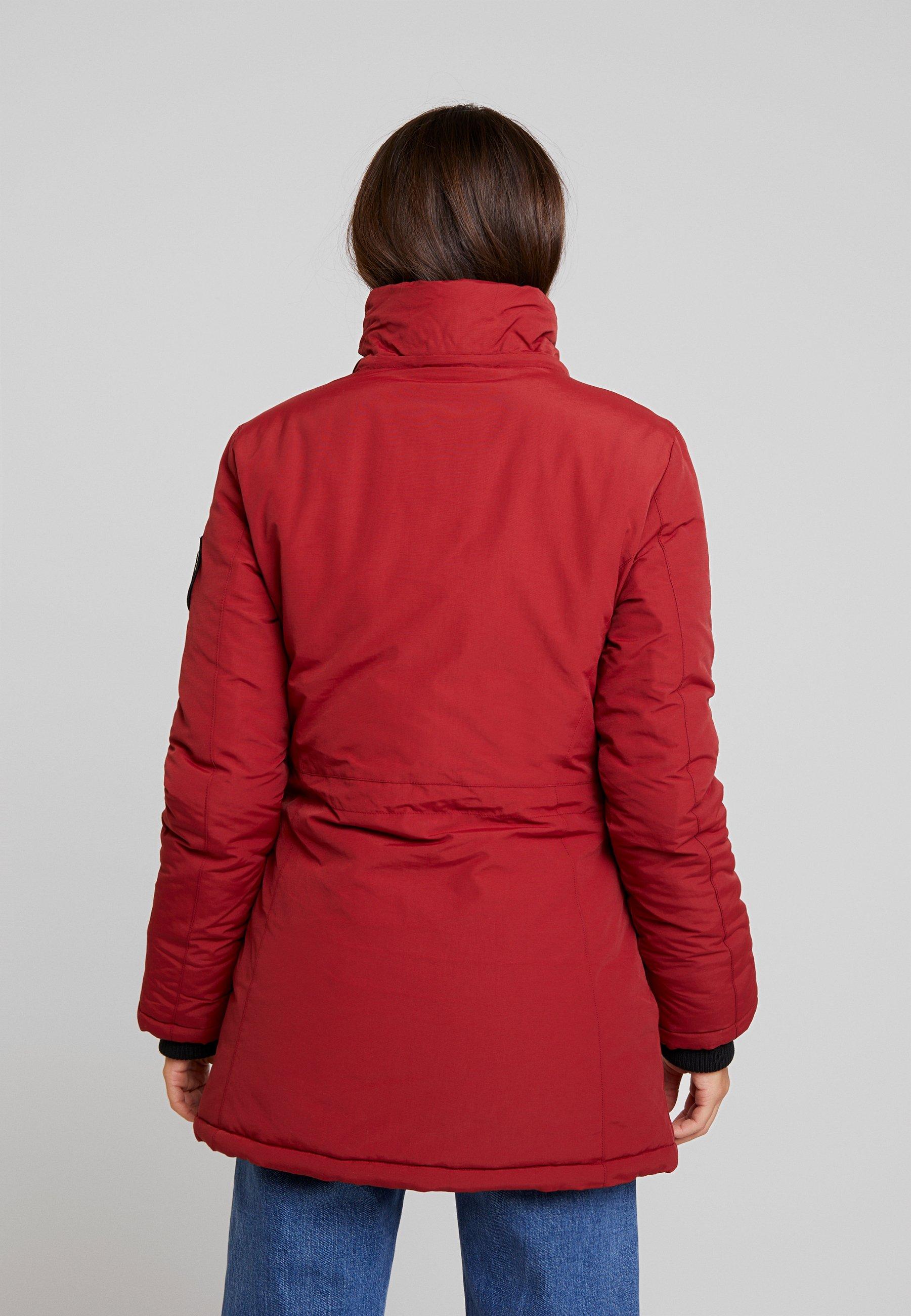 Superdry Ashley Everest Parka Jacket Brick Red