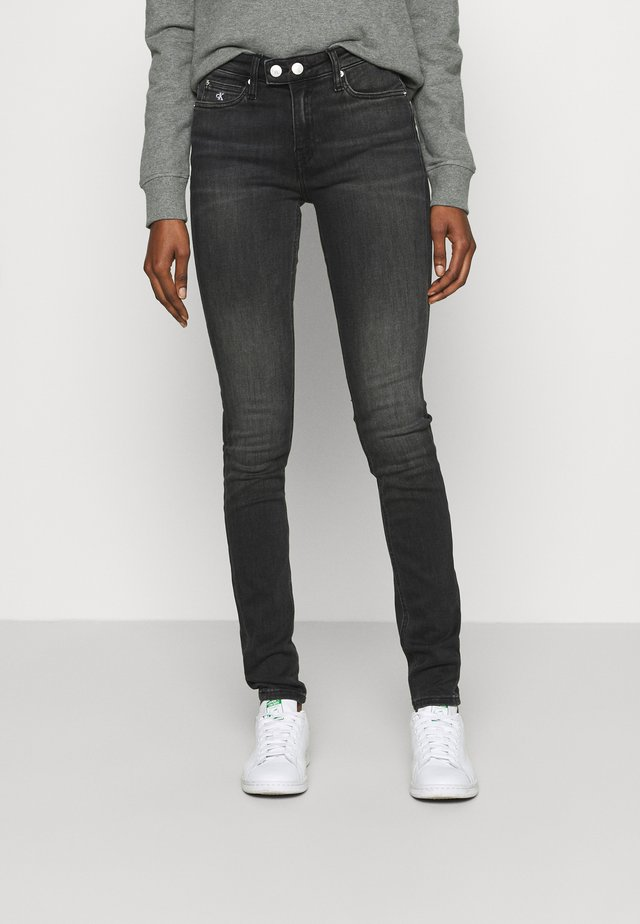 MID RISE SKINNY - Jeans Skinny Fit - grey double shank
