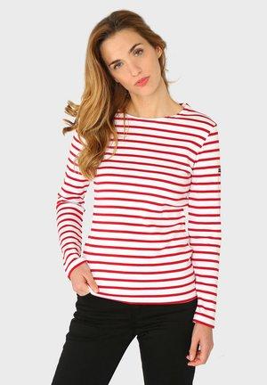 LESCONIL - MARINIÈRE - T-SHIRT - Long sleeved top - blanc braise