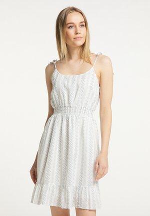 Day dress - weiss grau