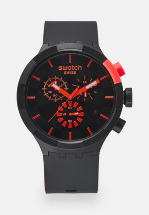 RACING PASSION - Zegarek chronograficzny - black/red