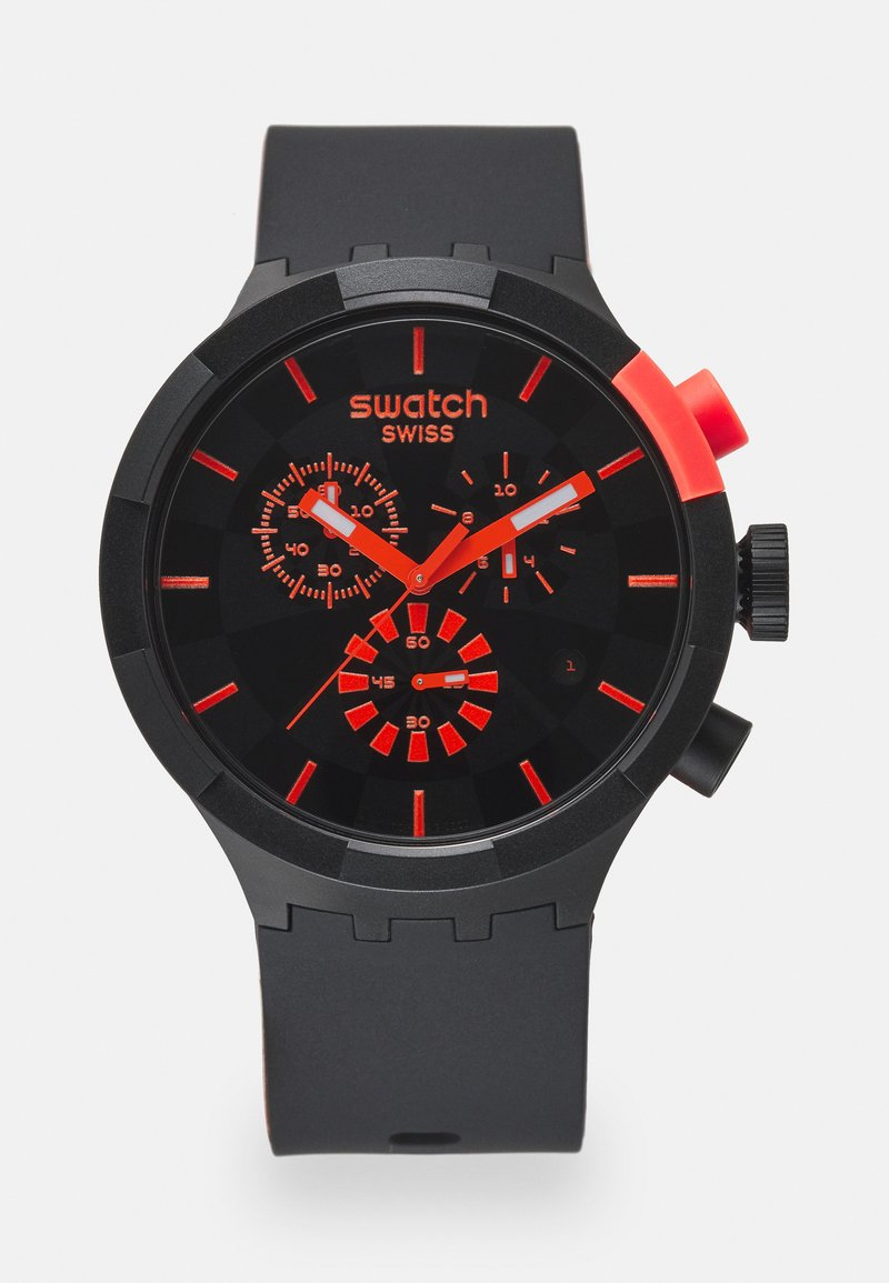 Swatch - RACING PASSION - Chronograph watch - black/red