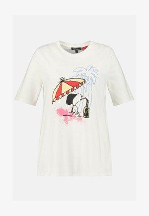 SNOOPY  - T-shirt imprimé - snow white