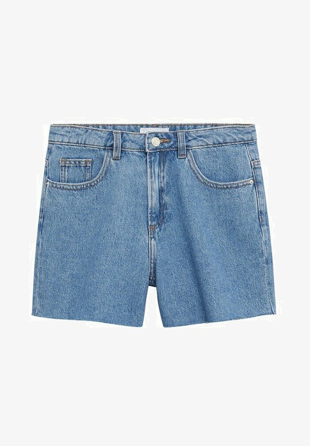LAUREN - Jeansshort - średni niebieski