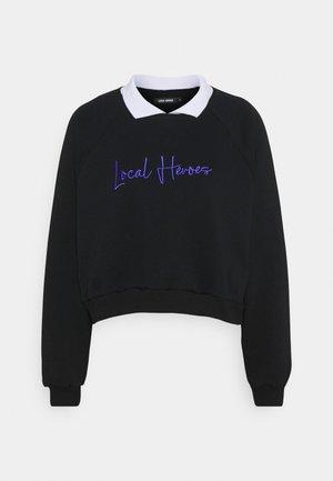 COLLAR RAGLAN - Sweatshirt - black