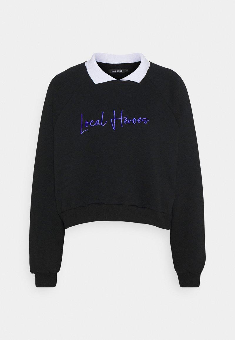 Local Heroes - COLLAR RAGLAN - Sweatshirt - black