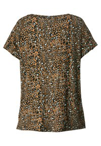 Sara Lindholm - Print T-shirt - schwarz,cognac,weiß - 4