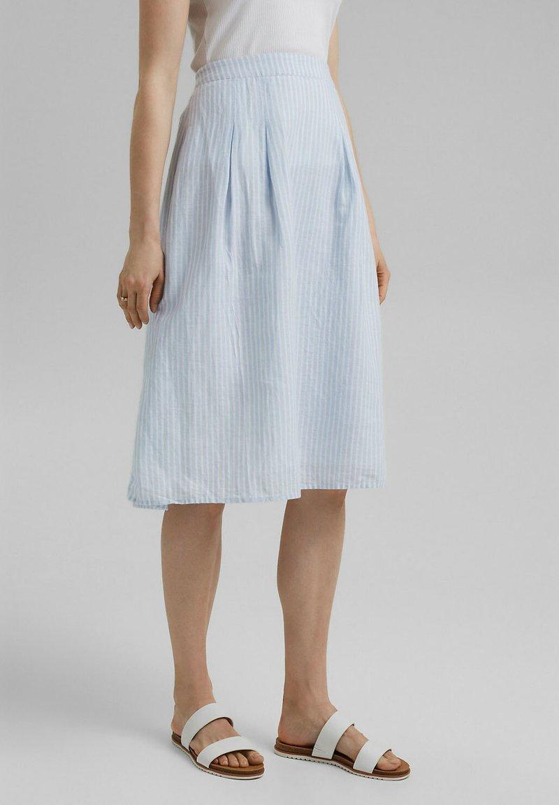 Esprit - A-line skirt - light blue