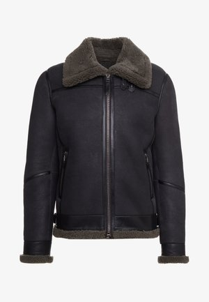 LAMMY - Leather jacket - deep grey