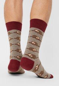 Natural Vibes - ANIMALS GIFT BOX ORGANIC COTTON SOCKS - Socks - green - 2