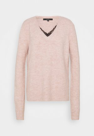 VMIVA V NECK - Jumper - sepia rose melange