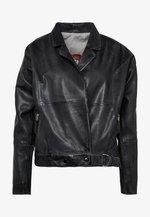 LORIANA - Leather jacket - black