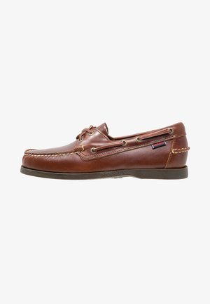 DOCKSIDES PORTLAND WAXED - Boat shoes - brown