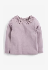 Next - BRUSHED BRODERIE COLLAR  - Long sleeved top - purple - 0
