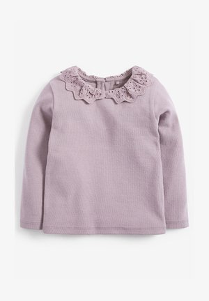 BRUSHED BRODERIE COLLAR  - Langærmede T-shirts - purple