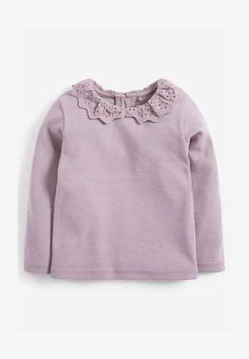 BRUSHED BRODERIE COLLAR  - Langærmede T-shirts - purple