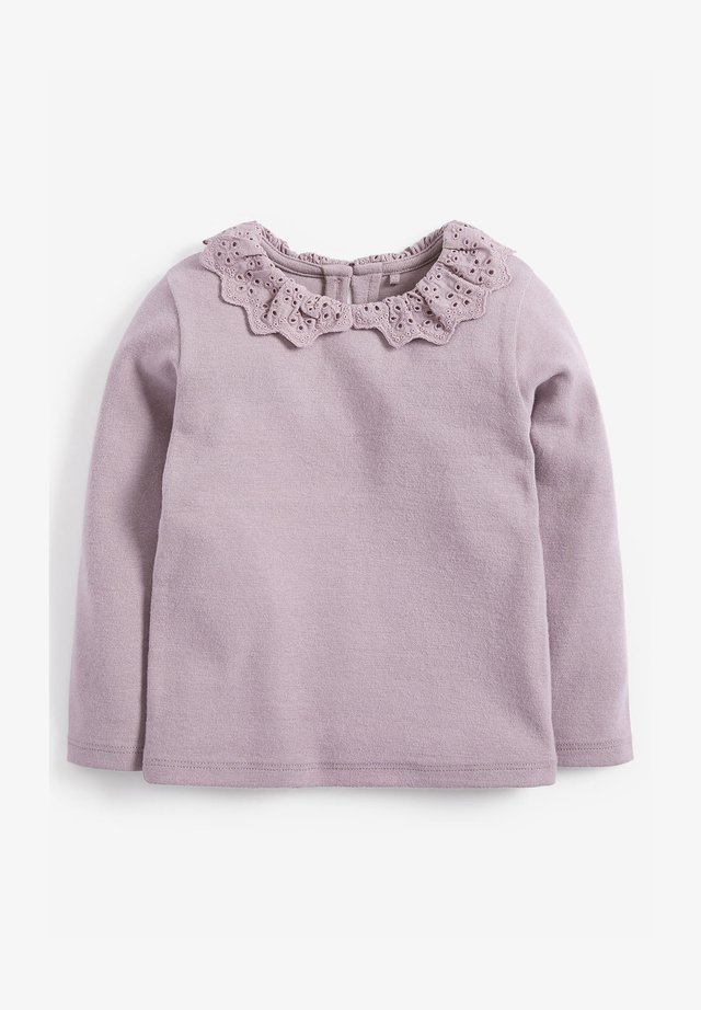 BRUSHED BRODERIE COLLAR  - Long sleeved top - purple
