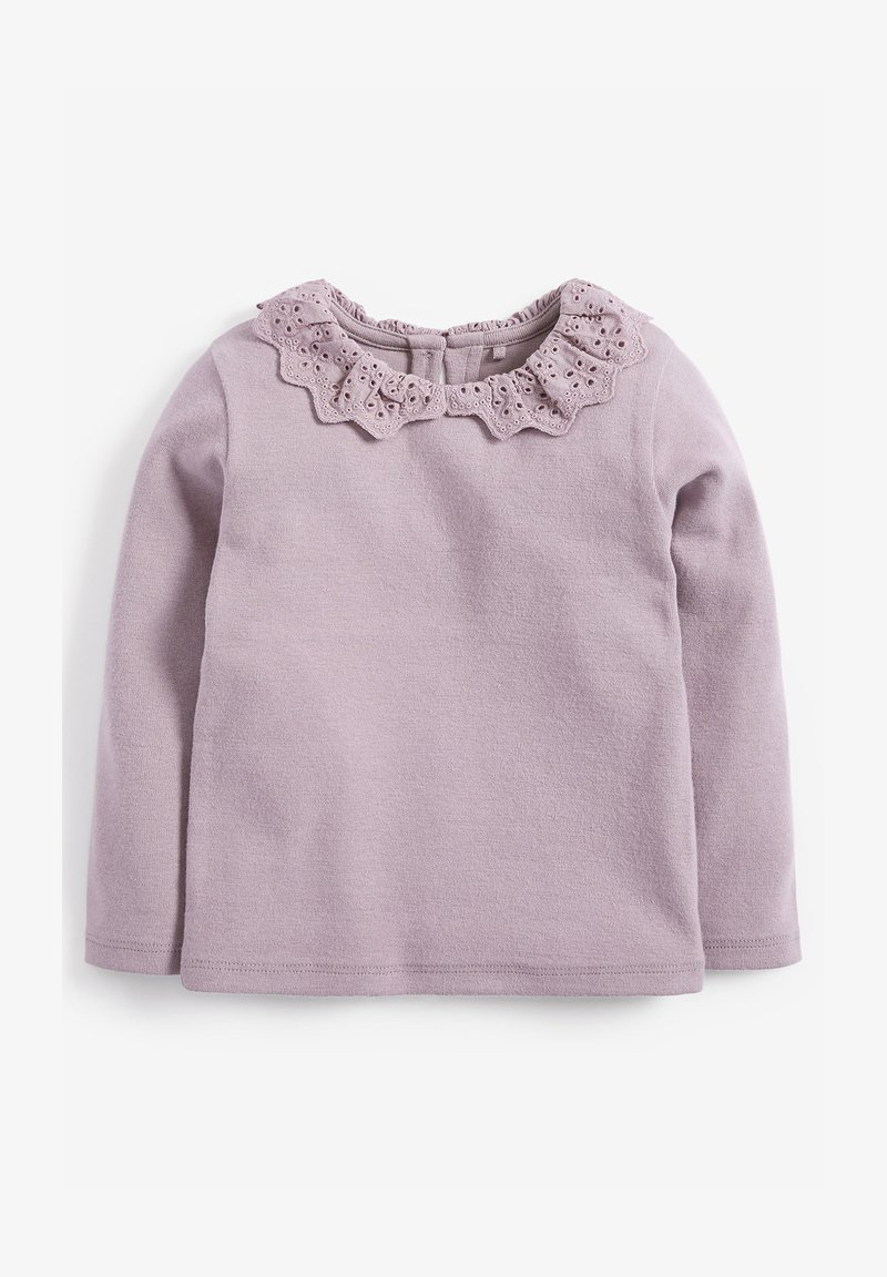 Next - BRUSHED BRODERIE COLLAR  - Long sleeved top - purple