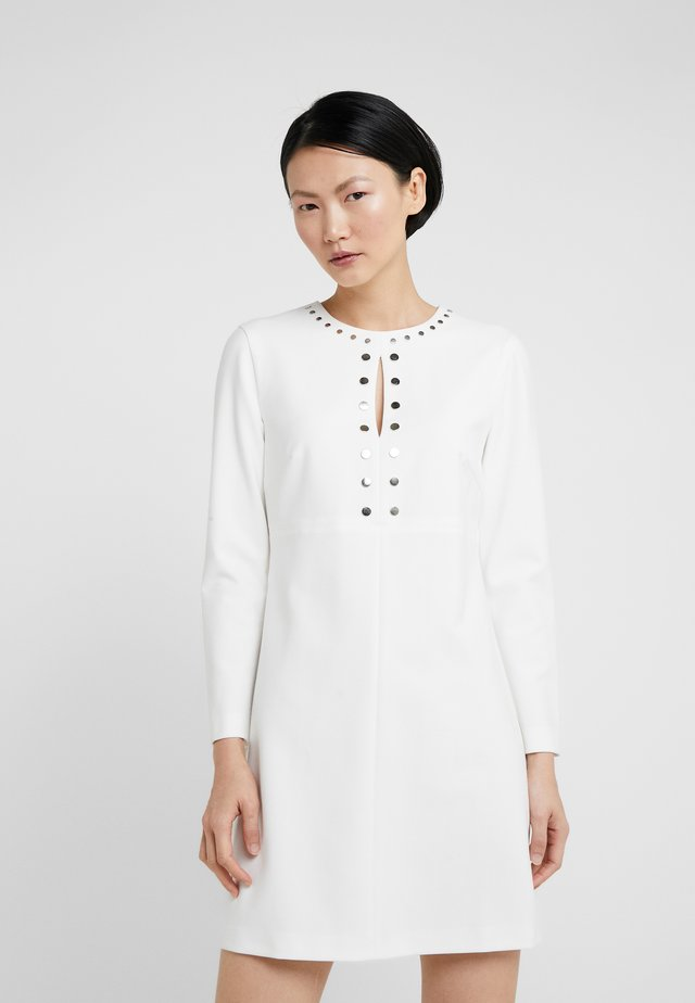 NOCCIOLINI ABITO DOPPIO DIAGON - Day dress - bianco biancaneve