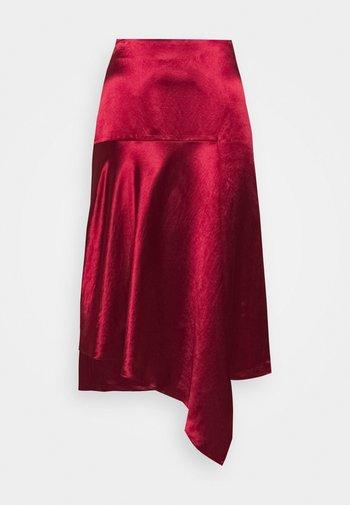 RALOVI - A-line skirt - open red