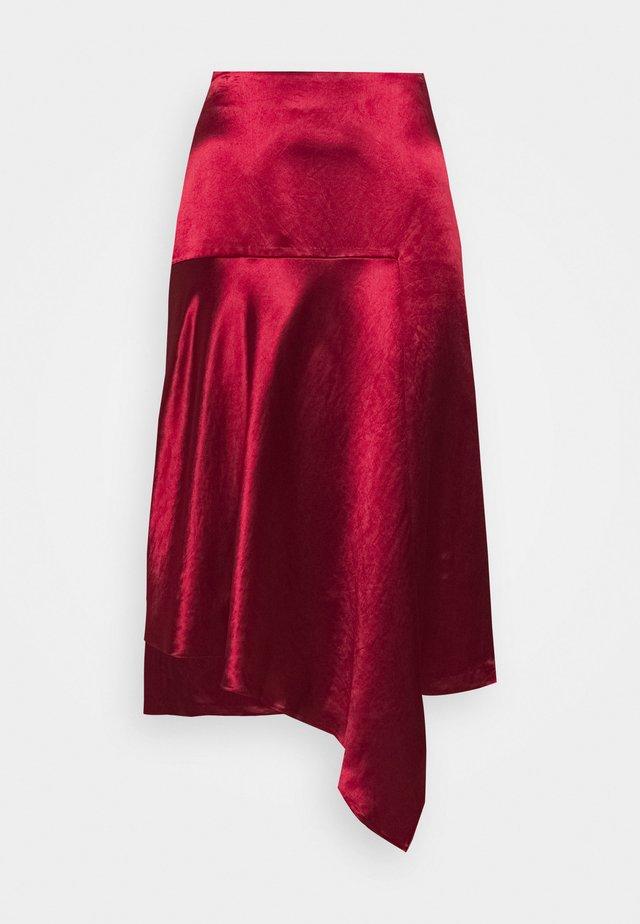 RALOVI - Áčková sukně - open red