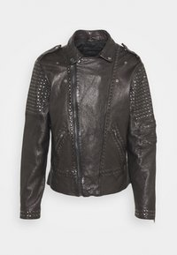 CAMIL - Leather jacket - black