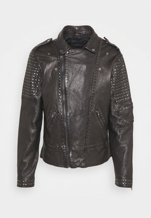 CAMIL - Leather jacket - black
