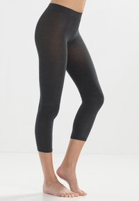 FALKE - FALKE COTTON TOUCH LEGGINGS BLICKDICHT GLATT - Leggings - Stockings - grigio - 1