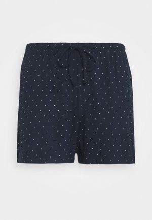 NIGHT SHORTS DOT - Pyjama bottoms - dark blue