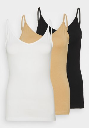 Top - black/white/tan