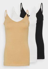 Top - black/white/tan