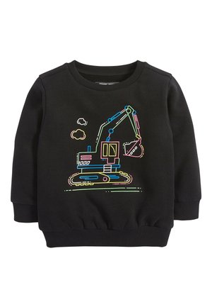 BLACK FLURO DIGGER CREW TOP (3MTHS-7YRS) - Sweatshirt - black