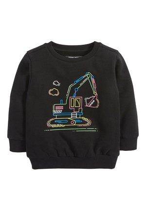 BLACK FLURO DIGGER CREW TOP (3MTHS-7YRS) - Sweatshirt - black