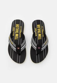 TOM TAILOR - T-bar sandals - black/white/yellow - 3
