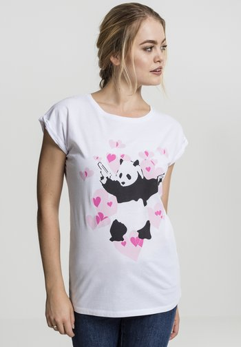 BANKSY´S GRAFFITI PANDA HEART TEE