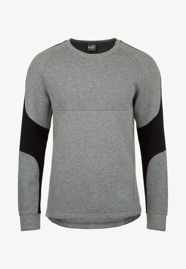 Puma - EVOSTRIPE CREW TRAININGSSWEAT HERREN - Sweatshirt - gray