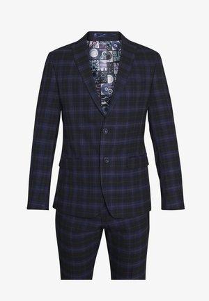 CHECK SUIT - Suit - dark blue