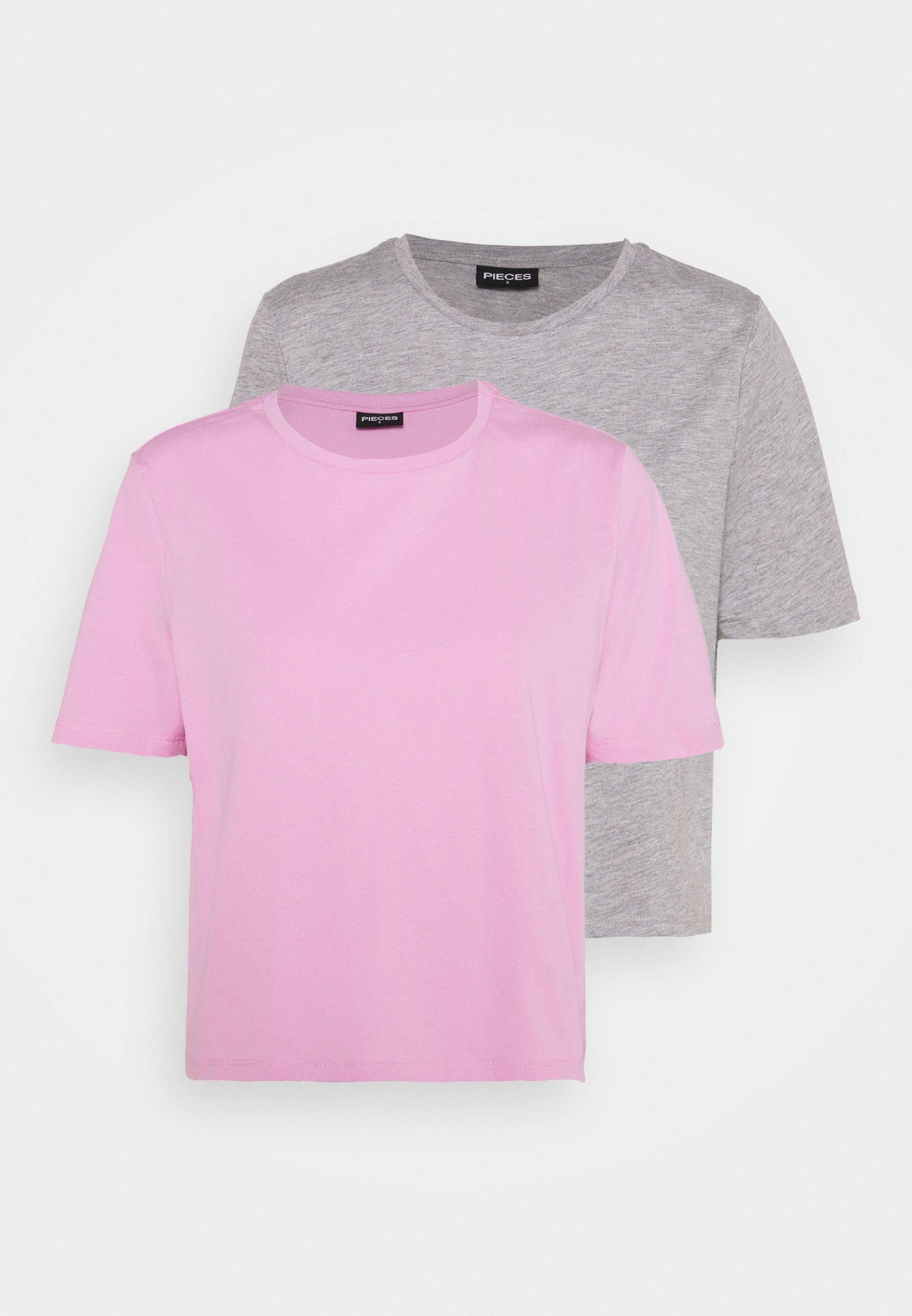Damen PCRINA CROP 2 PACK - T-Shirt basic