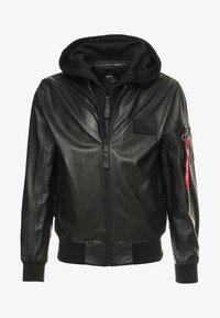 Alpha Industries - Leather jacket - black - 6